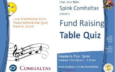 Spink Comhaltas Table Quiz